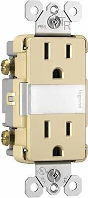 Pass & Seymour NTL885TRICC6 15A Duplex Outlet with LED Night Light