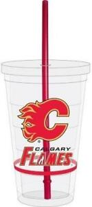 Calgary Flames 16 Ounce Straw Tumbler (New) Calgary Alberta Preview