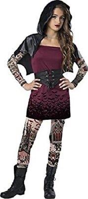 Incharacter Street Vamp Vampir Tattooed Tween Mädchen Halloween Kostüm - Tween Vampir Kostüm