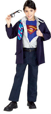 boys MEDIUM 7-8 SUPERMAN CLARK KENT Halloween costume w/ GLASSES med FREE SHIP - Clark Kent Costume Halloween