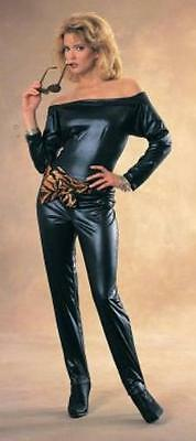Sexy Black Catsuit Cat Woman Ladies Adult Costume Large 14-16 - Cat Lady Costumes