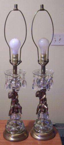 Crystal Cherub Lamps Ebay