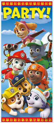 PAW PATROL Scene Setter BIRTHDAY party wall door poster dog decor Chase Marshall - Paw Patrol Decorations