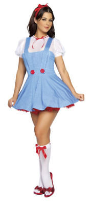NEW! Dorothy Wizard of Oz Inspired Women Cosplay Costume Halloween Sexy M/L](Dorothy Cosplay)