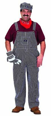 Adult Train Engineer Suit in Blue and White ID 787741 Small (Adult Train Engineer Suit)