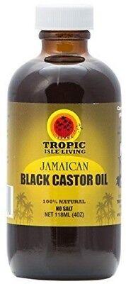 Tropic Isle Living Jamaican Black Castor Oil- 4 oz Plastic PET Bottle