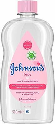 JOHNSON'S Baby Oil 500 ml, Leaves Skin Soft and Smooth, Ideal for Delicate Skin,