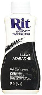 Black Dye For Clothes Liquid Rit All-Purpose Liquid Paint Dye Restore Repair 8oz