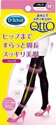 Dr. Scholl Medi QttO Leg Slimming Stirrup Leggings M size Black Japan
