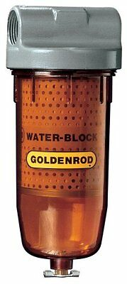 """GOLDENROD 496 Bowl Water-Block Fuel Tank Filter with 1"""" NPT Top Cap"""