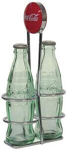 Coca Cola 'Coke' Glass Salt & Pepper Shakers Set
