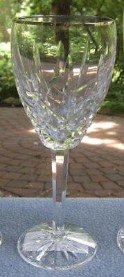 Fancy Waterford Crystal Araglin Platinum Wine Goblet New & Mint  Waterford Araglin