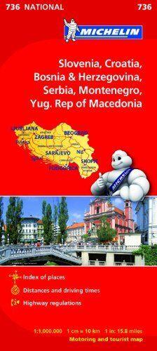 Slovenia,Croatia, Bosnia (Michelin National Maps) New Map Book Michelin