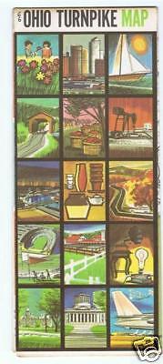 1966 OHIO Turnpike Map