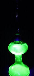 Antique Vaseline Depression Glass Oil Lamp Chimney And Burner Regina Regina Area image 2