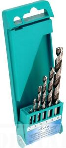 Heller-6-Piece-HSS-Co-Cobalt-Drill-Bit-Set-2mm-8mm-High-Quality-German-Tools