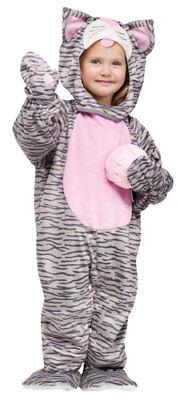 Toddler Little Stripe Kitten Animal Halloween Costume - Kitten Costume Toddler