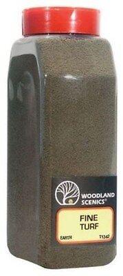 Woodland Scenics 1342 Fine Turf Earth 32 oz Shaker - NIB