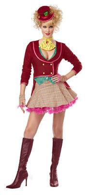 Adult Crazy Mad Hatter Sexy Womens Halloween Costume - Mad Hatter Woman Costume