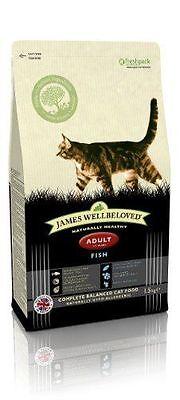 James Wellbeloved Complete Adult Cat Dry Food Kibble 1.5 kg Fish