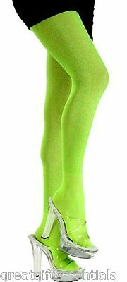 LIME GREEN GLITTER TIGHTS Women Stockings Adult Pantyhose Costume Fairy Witch](Adult Green Fairy Costume)