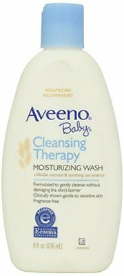 5 Pack   Aveeno Baby Cleansing Therapy Moisturizing Wash 8 Oz Each