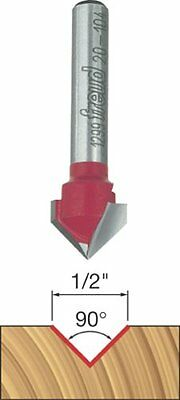 Freud 20-104 1/2-Inch Dia. 90-Degree V-Grooving Router Bit $18.99+ FREE Ship