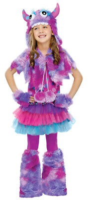 Girls Monster Halloween Costume (Girls Polka Dot Monster Cute Halloween)