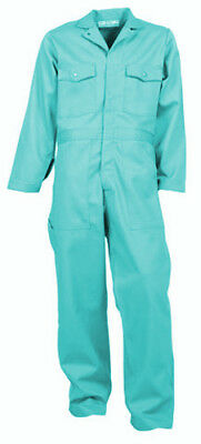 Visual Green Flame Resistant Coverall Indura-new-made In Usa-up To Size 68