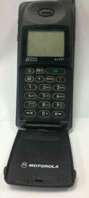 MOTOROLA MOBILE PHONE MR601 RETRO VINTAGE PHONE WITH ORIGINAL BOX WITH FAULT