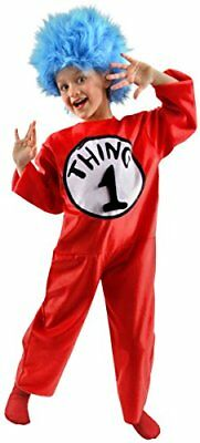 Dr Seuss Cat in the Hat Thing 1, 2, 3 or 4 Child Costume - Small - Thing 1 Costume Baby