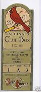 St Louis Cardinals Ticket Stubs