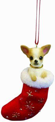 Chihuahua Santa - Chihuahua Christmas Stocking Ornament with