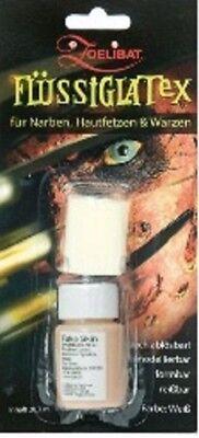 Zoelibat Flüssig Latex hautfarben mit Schwamm für Narben, Hautfetzen, Warzen