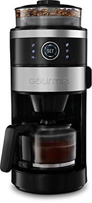 Gourmia GCM4850 Away & Brew Coffee Maker with Built-In Adjustable Grinder 6-Cup