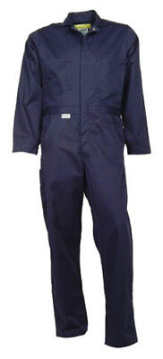 Navy Blue Flame Resistant Coverall (Indura®)-NEW!-(sizes 34-68 regular & tall)  - Indura Flame Resistant Coverall
