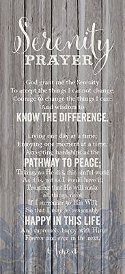 NEW Dexsa Serenity Prayer New Horizons Wood Plaque DX8803