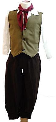 World Book Day-Oliver-Von Trapp DICKENS-EDWARDIAN BOY OLIVE GREEN All - Von Trapp Kostüm