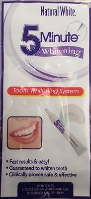 New Natural White 5 Minute Gel Tooth Whitening System.(2-PACK)