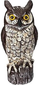 """16"""" GREAT HORNED OWL DECOY TO DETER BIRDS AND RODENTS.  LIKE NEW"""