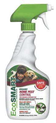 Outdoor Home Pest Control (Ecosmart Organic Home Pest Control, 24oz Kid/Pet Safe Non-Toxic indoor/outdoor )
