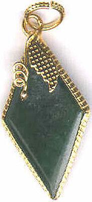Antique 14ct Jade Medieval Portuguese Loin Stone Kidney Back Pain Amulet 24ktGP