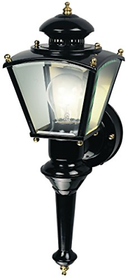 Motion Sensor Glass Exterior Outdoor Lantern Wall Light Fixt