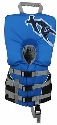 X20 Infant Life Jacket USCG Water Heads Up Flotation Vest Crotch Strap PFD