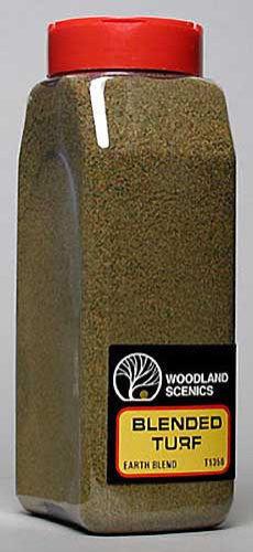 Woodland Scenics 1350 Blended Turf * Earth Blend 32 oz Shaker - NIB