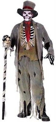 Deluxe Halloween Grave Groom James Bond Baron Samedi Fancy Dress Costume