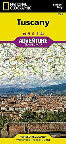Map of Tuscany, Italy, by National Geographic Adventure Maps