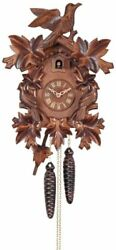 River City Clocks One Day Cuckoo Clock with Seven Hand carved Leaves and Thre...