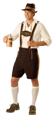 Bavarian Guy Mens Halloween Costume - Halloween Costume Brown Guy
