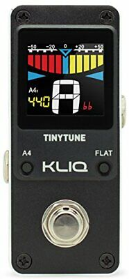 KLIQ TinyTune Tuner Pedal for Guitar and Bass - Mini - Chromatic - with Pitch